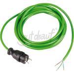 3 G Anschlußleitung 16A 250V 1,5 mm², mit Vollgummistecker Kabel grün