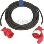 SIROX® CEE-Verlängerungen 16 A, schwere Gummischlauchleitung H07RN-F 10m 5x1,5qmm Schwarz