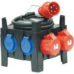 """Kunststoff-Kleinverteiler """"KAPPEL"""" 2 x CEE 16 A, 400 V 5 x Steckdose 230 V mit FI-Schalter 40 A, 4-polig, 0,03 A   IP44"""