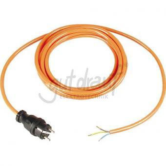 Pur-Anschlußleitung 5m 2x1,5qmm Orange , mit Konturenstecker