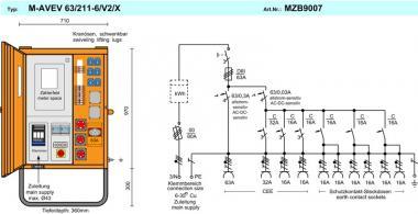 Merz-Baustromverteiler M-AVEV 63/211-6/V2/X