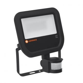 LEDVANCE LED-Fluter mit Sensor - 4000 50 W schwarz neutralweiß 840