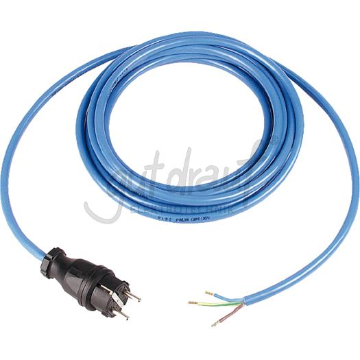 Anschlußleitung 16A 250V  3 G 1,5 mm², mit Vollgummistecker
