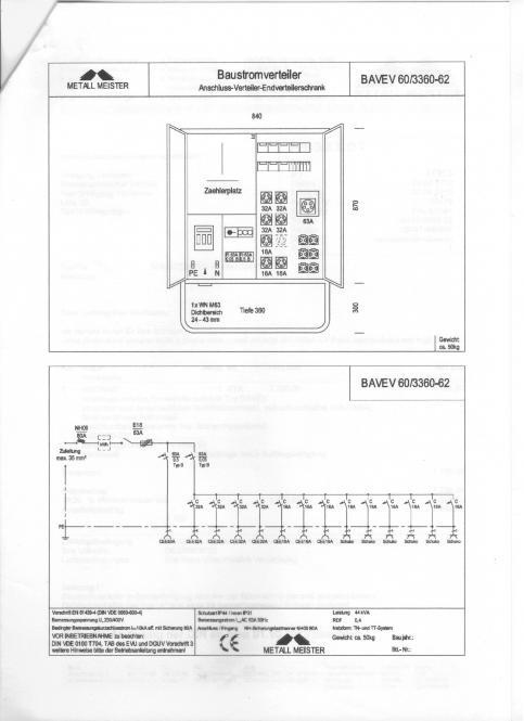 Anschlussverteiler-Endverteilerschrank Typ BAVEV verzinkter und verschließbarer Stahlblechschrank, pulverbeschichte